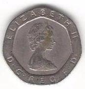 GREAT BRITAIN 20 PENCE 1982 KM# 931 CIRC. [GB-931-982] - 1971-… : Decimal Coins