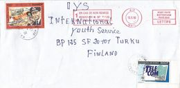 Guinee Guinea 1993 Kamsar IUT Telecommunications Bismark WWII Cover - Guinee (1958-...)