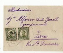 10912 HRVATSKA CROAZIA CROATIA DUBROVNIK TO ZARA - Kraljevina Srba, Hrvata I Slovenaca STAMPS - WITH TEXT - 1919-1929 Regno Dei Serbi, Croati E Sloveni