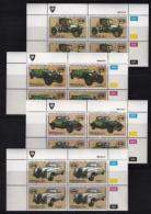 VENDA, 1986, Mint Never Hinged Stamps In Control Blocks, MI 146-149, Veteran Cars, X332 - Venda