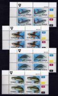 VENDA, 1987, Mint Never Hinged Stamps In Control Blocks, MI 159-162, Freshwater Fish, X336 - Venda