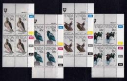 VENDA, 1989, Mint Never Hinged Stamps In Control Blocks, MI 191-194, Vulnerable Birds, X344 - Venda