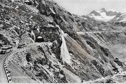 SUSTENSTRASSE → Zwei Offene Saurer Postauto In Den Kehren Oberhalb Steinalp Anno 1950 - BE Berne