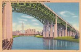 Ohio Cleveland Lorain-Carnegie Bridge And Union Terminal - Cleveland