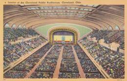 Ohio Cleveland Interior Of Cleveland Public Auditorium - Cleveland