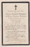 7AJ396  Image Pieuse MORTUAIRE DIZIEN DEVOIR DOMECY SUR CURE 1883 2  SCANS - Images Religieuses