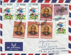 Zaire Congo 1980 Bandaka World Cup Football Argentina 1k President Mobutu Fish Cover - 1980-89: Afgestempeld