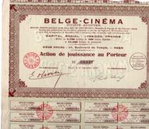 ACTION DE JOUISSANCE BELGE - CINEMA - ANNEE 1932 - Cinéma & Theatre