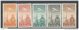 Danemark 1934 Poste Aérienne N° 6/10 Neufs** MNH - Posta Aerea