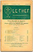 LE CHEF Revue Mensuelle De Scoutisme  SCOUTS DE FRANCE No 95  Juillet 1932 - Padvinderij