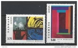 Danemark 1993 N°1055/1056  Neufs ** Europa Oart Contemporain - Danemark