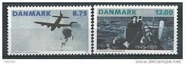 Danemark 1995 N°1105/1106  Neufs ** 50 ème Anniversaire De La Fin De La Guerre - Danemark