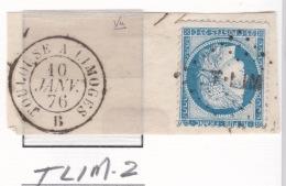 Ambulant T LIM-2 Sur 60 - Marcophilie (Timbres Détachés)