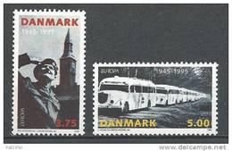 Danemark 1995 N°1103/1104  Neufs ** Europa Paix Et Liberté - Danemark