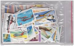 Stamps Lot + De 230 Timbres Du Monde Différents Thème AVIATION - AVION - PLANE - DIRIGEABLE - HELICOPTERE - ZEPPELIN - Airplanes
