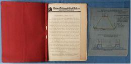 1920er / 1930er Jahre : Betonpfahl / Bettonrammpfahl / Bohrpfähle  -  Technische Pläne + Beschreibungen / Bilder - Architektur
