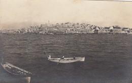 Israel City Haifa(?) Jaffa(?) Coast From Water, Boats View Of City & Hillside, C1900s/10s Vintage Real Photo Post - Israel