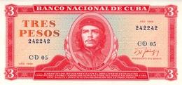 CARIBBEAN CARIBE 3 Pesos 1988 *RADAR* (242242) UNCIRCULATED , SCARCE AUTHENTIC AND RARE - Cuba