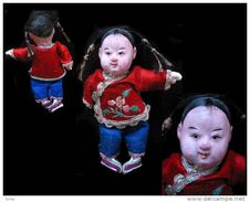 Ancienne Poupée Petite Fille Chinoise / Old Chinese Doll - Art Asiatique