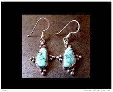 Très Jolies Boucles D´oreille Argent Du Népal  / Silver Nepalese Earings - Art Asiatique