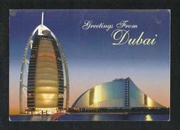 United Arab Emirates UAE Dubai Picture Postcard Burj Al Arab & Jumeirah Beach Hotel Dubai View Card - Dubai