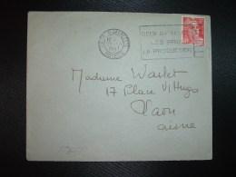 LETTRE TP MARIANNE DE GANDON 6F OBL.MEC.27 XII 1947 METZ R. LAFAYETTE (57 MOSELLE) DEUX BATAILLES LES PRIX LA PRODUCTION - Marcophilie (Lettres)