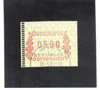 ART273 ÖSTERREICH JAHR 2001 AUTOMATENMARKEN 5 AUFLAGE 5 SCHILLING MARKE & MÜNZE GRAZ   Used / Gestempelt - 2001-10 Gebraucht