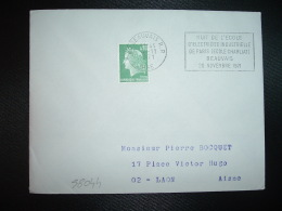 L. TP M. DE CHEFFER 0,30 OBL.MEC.4-11-1971 BEAUVAIS RP (60 OISE) NUIT DE L'ECOLE D'ELECTRICITE INDUSTRIELLE DE PARIS ECO - Annullamenti Meccanici (pubblicitari)