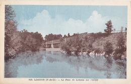 LIMONS  EN PUY DE DOME  LE PONT DE LIMONS SUR L4ALLIER VOIR VERSO CPA  CIRCULEE - France