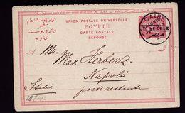 A4815) Egypt Ägypten Postcard From Cairo 5.6.1901 To Napoli / Italy - Ägypten