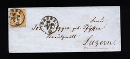 A4818) Schweiz Brief Von Basel 30.7.66 Nach Luzern EF Mi.24 - 1862-1881 Sitzende Helvetia (gezähnt)
