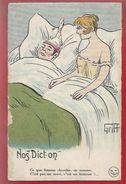 ILLUSTRATEUR : GRIFF - NOS DICT'ON -   CE QUE FEMME CHERCHE...   BROCHERIOUX SERIE 271 - 1919 - Griff