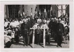 Photo Originale Militaria THANN 1945 Funérailles De René Ortlieb Et De L'Abbé Joseph Stamm Maquis Résistance - War, Military