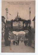 DONZY (58) - COMICE AGRICOLE DU 12 SEPTEMBRE 1909 - LA SEMEUSE - ARC DE TRIOMPHE SUR LES PROMENADES - France