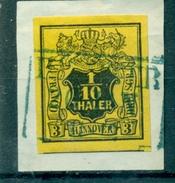 Hannover. Glatter Wertschild Unter Wappen, Nr. 5 Auf Briefstück - Hannover