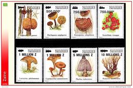 Zaire 1441/48**  Commémoratifs Surchargés  Champignons  MNH - 1990-96: Neufs