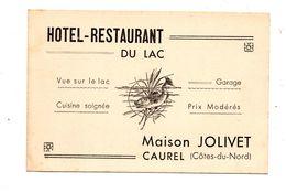 Carte Publicitaire Note Caurel Hotel Jolivet - Publicités
