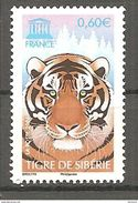 Timbre FRANCE 2006 SERVICE YT N° 134** UNESCO Tigre De Sibérie - Unused Stamps