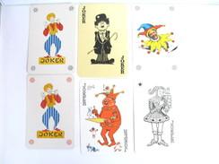 UN LOT N° 6 DE 6 JOKERS TOUS DIFFERENTS - Kartenspiele (traditionell)
