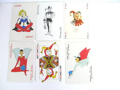 UN LOT N° 10 DE 6 JOKERS TOUS DIFFERENTS - Kartenspiele (traditionell)