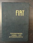 VINTAGE  FIAT   PERSONENWAGEN MODELL 503  BETRIBSVORSCHRIFTEN - Catalogues
