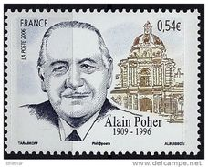 "Timbre France YT 3994 "" Alain POHER Homme Politique "" 2006 Neuf - France"
