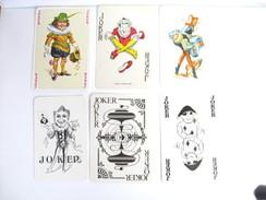 UN LOT N° 15 DE 6 JOKERS TOUS DIFFERENTS - Kartenspiele (traditionell)