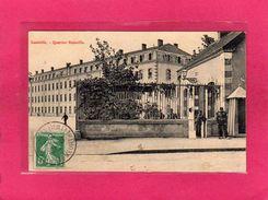 54 MEURTHE ET MOSELLE, LUNEVILLE, Quartier Stainville, Animée, Militaires, 1908 - Casernes