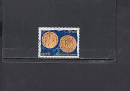 ITALIA  2002 - Sassone  2593°  - Moneta Su Francobollo - 6. 1946-.. Republic