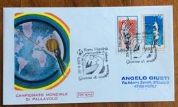 SPORT PALLAVOLO BUSTA CON FRANCOBOLLI ED ANNULLO SPECIALE DEL CAMPIONATO MONDIALE ROMA 20/9/78 - Pallavolo