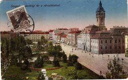 HG 123 - HONGRIE CPA De Szeged  Avec Timbre Surchargé - Covers & Documents