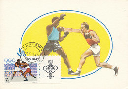 D31370 CARTE MAXIMUM CARD 1967 POLAND - BOXING OLYMPICS CP ORIGINAL - Boxing