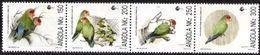 ANGOLA, 1992, FAUNA, BIRDS, ECO'92, R#287-90, YV#862-65, MNH - Angola