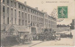 D72 - CHATEAU DU LOIR - ECOLE SUPERIEURE - (COTE RUE BELLE ANIMATION NOMBREUX ENFANTS - CHARRETTE AVEC UN CHEVAL) - Chateau Du Loir